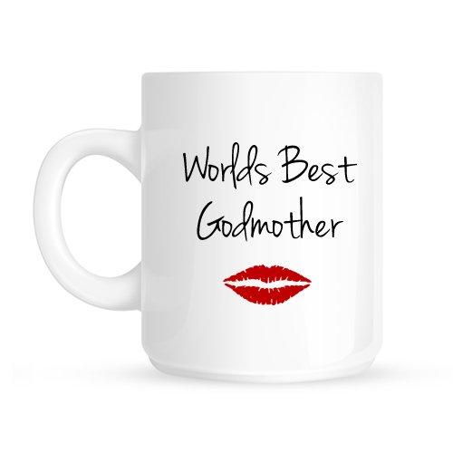 Mundos mejor beso de labios Navidad madrina de bautizo taza del regalo de cumpleaños