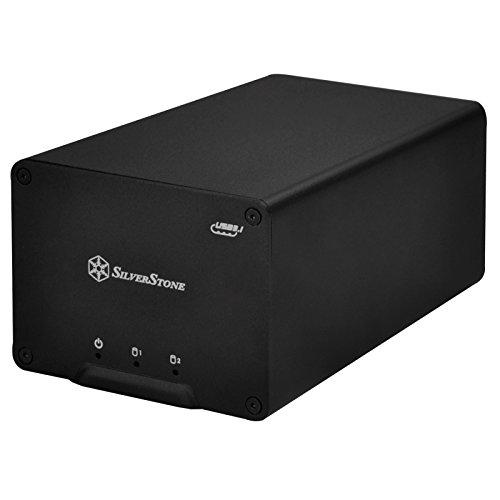 SilverStone SST-DS223 - USB 3.1 Typ 3 Gen2 Externes Festplatten-Gehäuse für 2 x 2,5