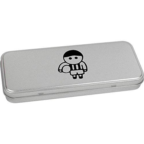 Azeeda 180mm x 75mm 'Fußballer' Blechdose / Aufbewahrungsbox (TT00082280)