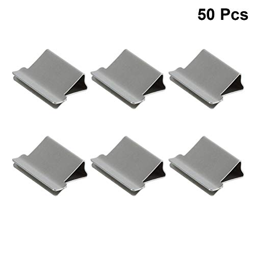 TOPBATHY 50 unids Almeja Clip Dispensador Clips de Recarga de Metal Engrapadora Papel Clipper Dispositivo…
