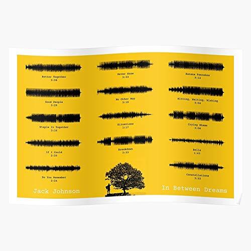 LaPet In Minimalist Jack Waveform Dreams Music Between Album Johnson Geschenk für Wohnkultur Wandkunst drucken Poster 11.7 x 16.5 inch