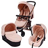 My Babiie Billie Faiers MB200+ Rose Gold and Blush Travel System