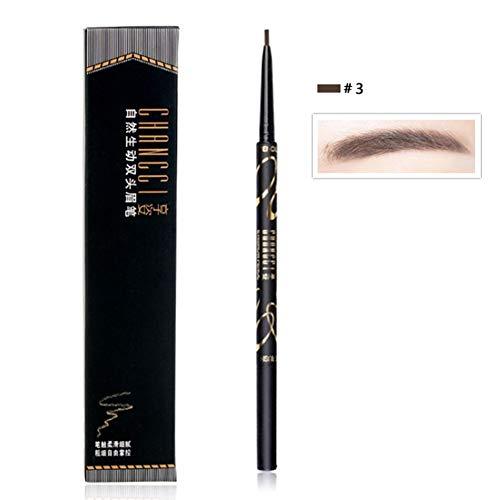 Ofanyia Crayon à sourcils double tête de longue durée Imperméable À l'eau Durable Teinture facile à utiliser Stylo à sourcils