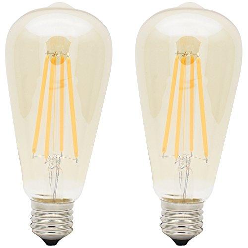 2X E27 Bombilla Filamento LED 4W Bombilla Edison Retro Blanco Cálido 480LM Bombilla Vintage AC220V