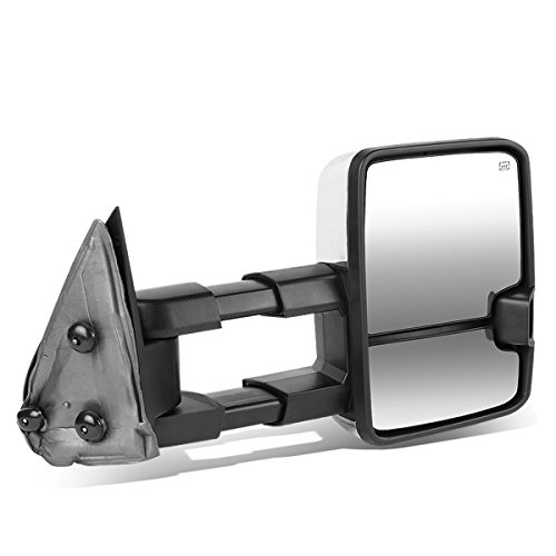 DNA Motoring TWM-030-T999-CH-SM-R Chrome Powered Tow Mirror+Heat+LED Smoked (Right/Passenger)