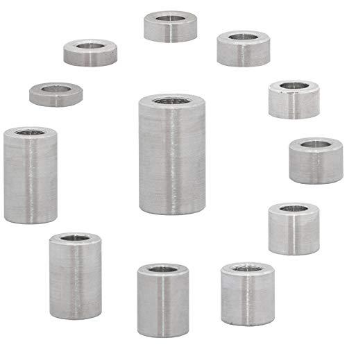 Faston, distanziali in alluminio M6, diametro interno 6,5 mm (4 pezzi) manicotti distanziatori boccole distanziatori boccole per targa, diametro esterno 12 mm, lunghezza 7 mm
