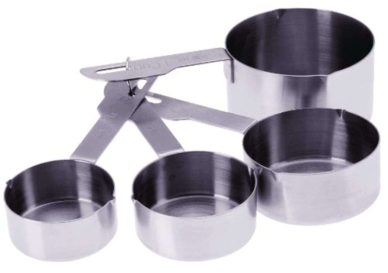 Prepworks by Progressive Stainless Steel Measuring Cups with Pour Spout - Set of 4