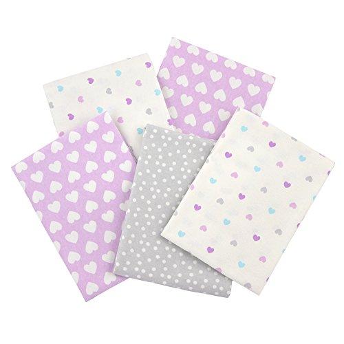 Gerber 100% Cotton Receiving Blankets, Purple Flannel, 5 Count