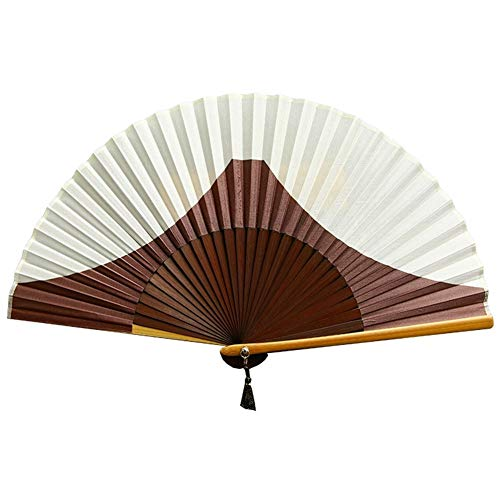 LANLANLife Stile Giapponese di Seta Tessuto di bambù Costole palmare Ventaglio Pieghevole for la Decorazione a Parete Danza Cosplay Festa di Nozze