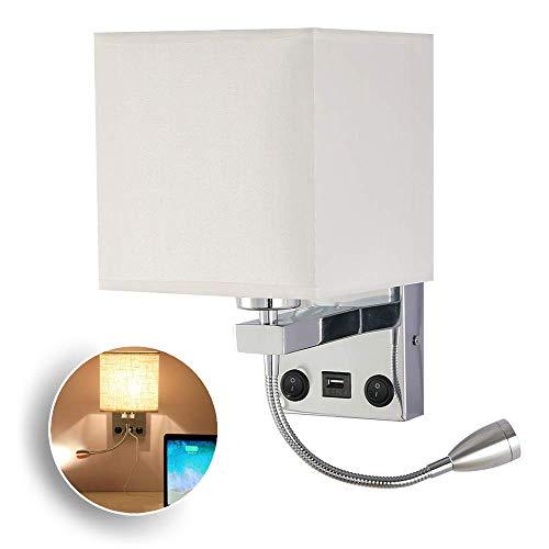 TiooDre Lampada da Parete Comodino Lampada da Parete Moderna A LED in Metallo con Paralume in Ferro per Corridoio