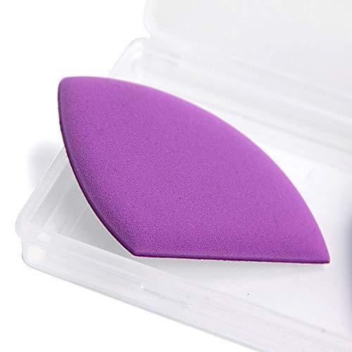 4 Pcs/Ensemble Air Cushion Puff Maquillage Éponge Blender Foundation Puff Flawless Makeup Blender Fondation Puff Éponge en forme de mousse Éponge Ensemble en forme d'oeuf (Violet)