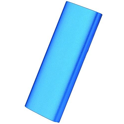 Disco duro externo de 1 TB, 2 TB, 3,4 TB, disco duro portátil Slim External Hard Drive USB 2.0, compatible con PC, portátil y Mac (2TB-D Blue)