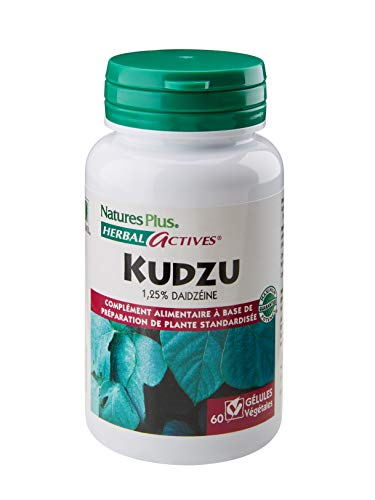 NaturesPlus - Kudzu 60 gélules - extrait de plante standardisée à 1,25% de daidzéïne - action calmante et équilibrante - Conçu et fabriqué par NaturesPlus