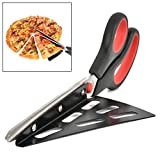 Hihey Pizzaschere mit Pizzaheber Edelstahl Küchenschere spülmaschinenfester Pizzaschneider