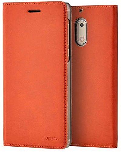 Nokia 1A21ML000VA Slim Flip Hülle CP-301 für Nokia 6 braun kupfer