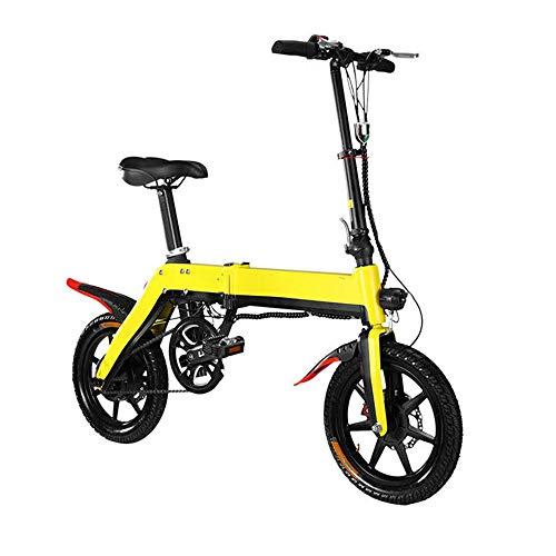 14 Pulgadas Bicicleta Plegable eléctrica 350W sin escobillas del Motor 10.4AH batería...