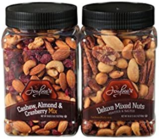 Jaybee's Mixed Nuts Gift Set (2 Pack) - Great Healthy Snack, Perfect Gift for Birthday, Holiday or Just for Snacking (Deluxe Mix & Cashew, Almond, Cranberry Mixed Nuts)