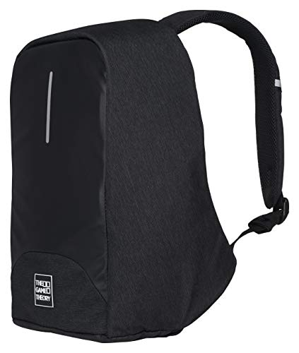 Travel Laptop Backpack, Black Anti-Theft Bag with USB Port for College/Business
