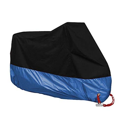 XBJSY GAOMBZ - Funda impermeable para moto, resistente al polvo, a la nieve, protección UV, al aire libre, para moto, quad, playa, vehículo o scooter (color: azul, tamaño: M para 1600 1800 mm)