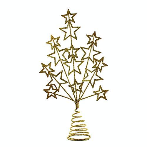 Festive Productions - Puntale per albero glitterato, 16 cm