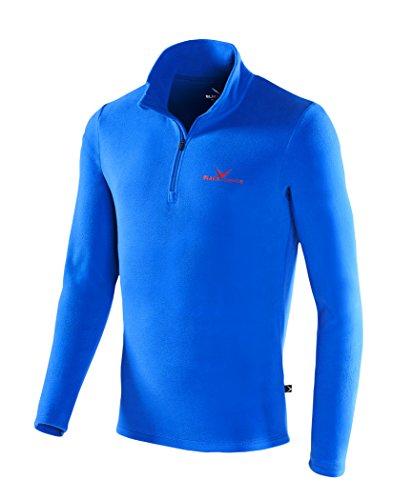 Black Crevice Herren Fleece-Funktionsrolli, Blau (blue - blue / red), L (Herstellergröße: 52)