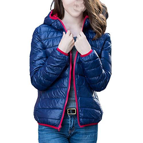 Las Mujeres Ultra Ligero Abajo Chaquetas Casual Doble Lado Reversible Abrigos Más Tamaño 4XL Mujer Outwear con Bolsa