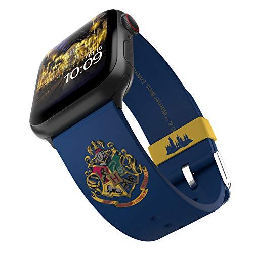 Harry Potter - Correa para reloj inteligente Hogwarts - Licencia oficial, compatible con Apple Watch (no incluido) - Se adapta a 38 mm, 40 mm, 42 mm y 44 mm