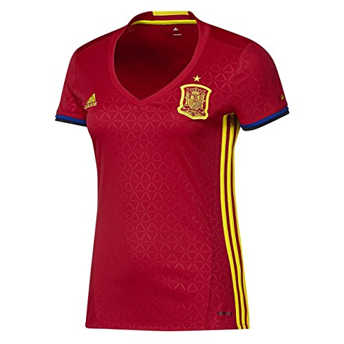 adidas 1ª Equipación Federación Española de Fútbol 2016/2017 - Camiseta Oficial Mujer, Talla S