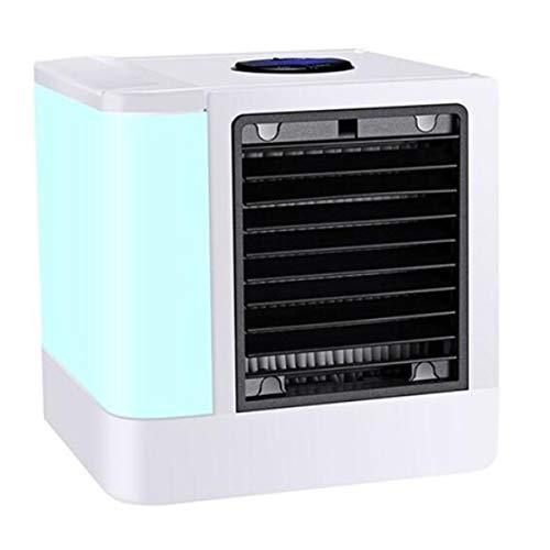 Greatangle Mini Pantalla Digital, Enfriador de Aire, versión de computadora para el hogar, refrigeración, Ventilador pequeño, Mini Aire Acondicionado portátil, indicador Blanco