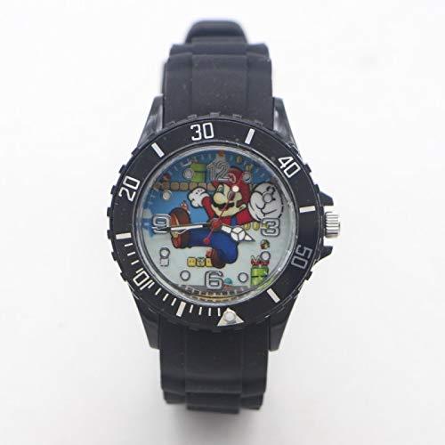 XINTENG Mario Bros horologe Mario Bros Silicona Cuarzo Niños Reloj Deportes Moda Niño Estudiantes Niños Relogio Kol Saati Reloj