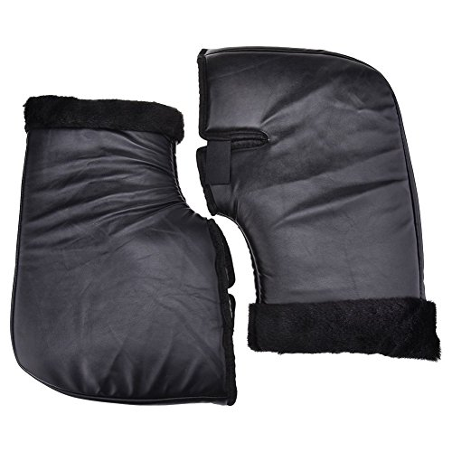 Guantes para manillar de motocicleta, XGZ, impermeables, resistentes al viento, guantes de invierno, de piel, cálidos