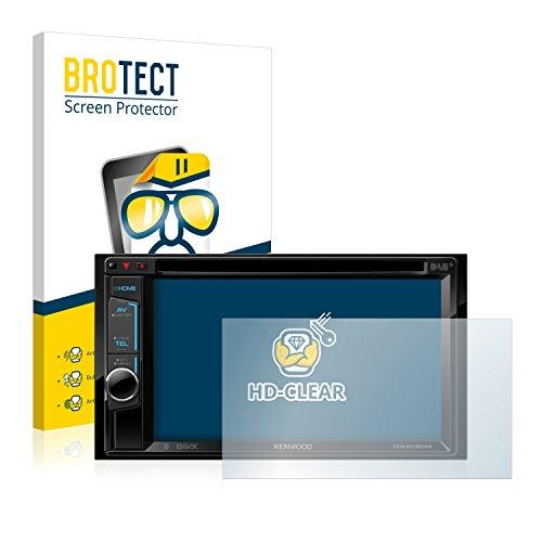 BROTECT Schutzfolie kompatibel mit Kenwood DDX4016DAB (2 Stück) klare Displayschutz-Folie