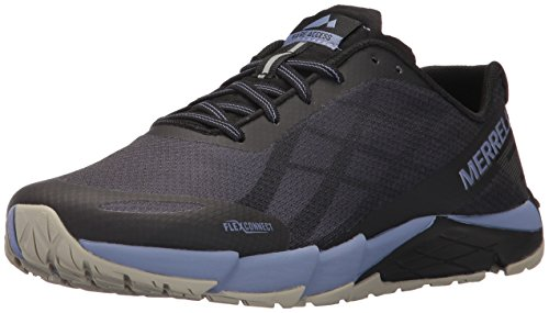 Merrell Women's Bare Access Flex Trail Runner, Black/Metallic Lilac, 9.5 M US