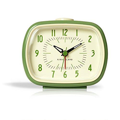 Kikkerland KKAC08-G-EU - Despertador Retro, Color Verde