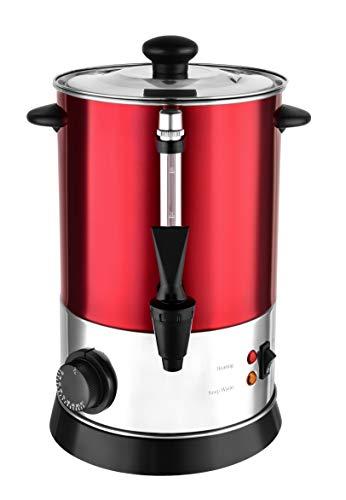 Kalorik TKG GW 940 Heißgetränke- und Glühweinautomat | regelbares Thermostat | Überhitzungsschutz, 950, 4 liters, Rot