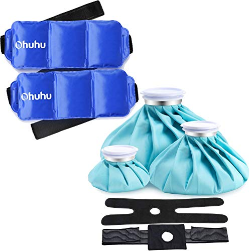 Why Choose Ohuhu 3 Packs [11 9 6] Ice Bags with 2 Wrap + 14.5''x 5.5'' Gel Pack (2Pack)
