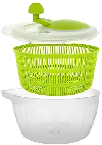 Salad Spinner, Lettuce Washer And Dryer, Easy Water Drain System And Compact Storage, Easy One-Hand Pump Operation, for Washing And Drying Leafy Vegetables salad,salad kit,spring mix (Color : Green)
