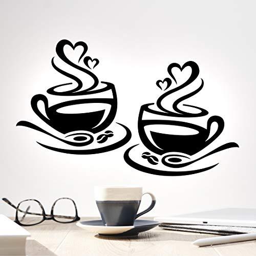 Tazas de café Pegatinas de pared Tazas de cocina Decoración de pared...