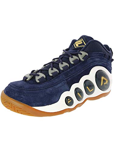 Fila Bubbles Leather Basketball Shoe - 9.5M - Navy/Marigold/Gum