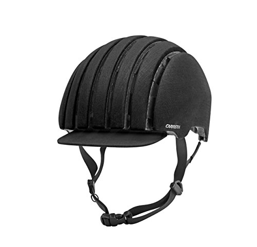 Carrera FOLDAB CRIT WP Fahrradhelm, black waxed, L-XL