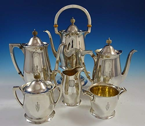 Purchase Antique by Wallace Sterling Silver Tea Set 6pc #3370 (#2458)