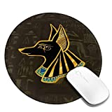 Ancient Egyptian God Anubis Mousepad Non-Slip Rubber Gaming Mouse Pad Mouse Pads for Computers Laptop 8.0x8.0 in