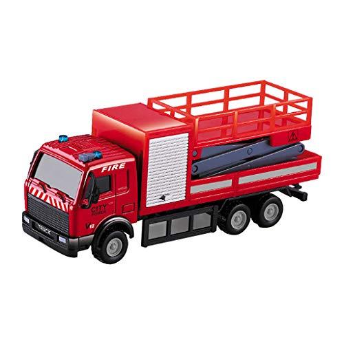 Bascar Feuerwehrauto Set Kinderspielzeug Legierung Zurückziehen Auto, als Kinder Krieg Action Spielzeug Militäranzug Modell Dekoration, geeignet für Kinder von 1 bis 3 Jahren und darüber