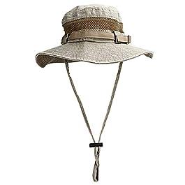 GIKPAL Chapeau Soleil Coton Homme Anti UV Bucket Hat à Bords Larges, Chapeau de Pêche Voyage Safari Randonnée Casquette…