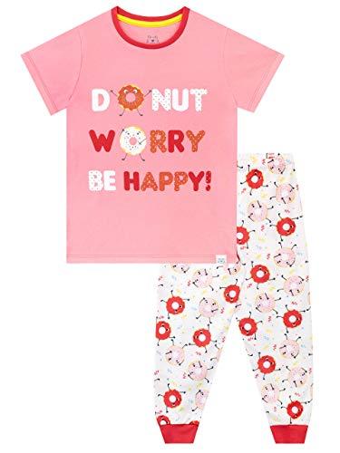 Harry Bear Pijamas de Manga Corta para niñas Rosquilla Rosa 11-12 Años