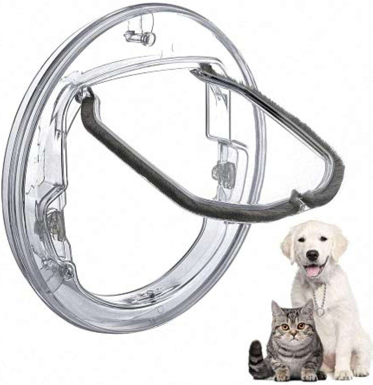 Door Mounting Adapter, Dog Door Lock with 4 Possibilities, Cat Door, Transparent Round Door with Lining