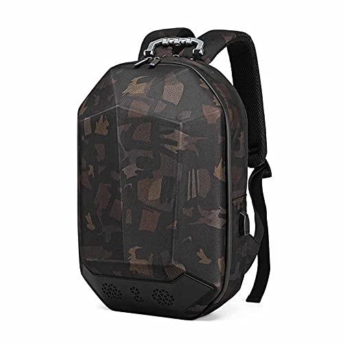 Outdoor USB Schultertasche Sport Camouflage MäNner Tasche Motorrad Multifunktionale Fahrt Musik Rucksack Mit GroßEr KapazitäT,Army