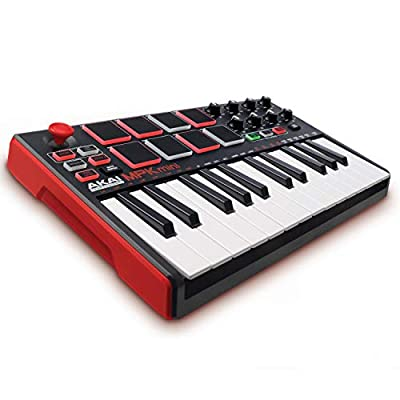 Akai Professional MPK Mini MKII – 25 Key USB MIDI Keyboard Controller With 8 Drum Pads, 8 Assignable Q-Link Knobs and Pro Software Suite Included from inMusic Brands Inc.