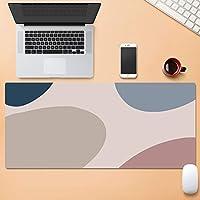 より大きい拡張 ゲーミングマウスパット,パターン じゃない-スリップベース デスクマット,デスクパッド コンピュータキーボードマウスマット 仕事用 ゲーミング オフィス ホーム-I 90x40cm(35.4x15.7inch)