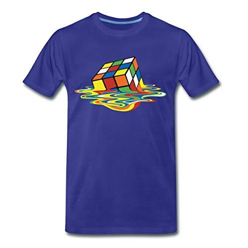 Rubik's Cube Zauberwürfel Melting Cube Männer Premium T-Shirt, XXL, Königsblau